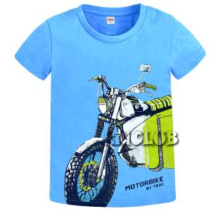 Μπλούζα με κοντό μανίκι για αγόρι σταμπωτό moto Trax