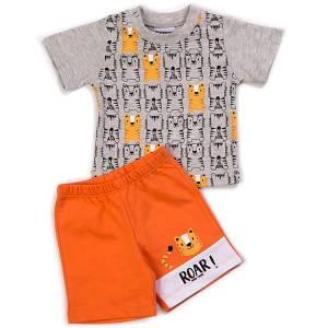Σετ μπλούζα με βερμούδα παντελόνι αγόρι με στάμπα roar Trax