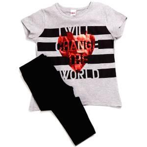 Σετ μπλούζα και κολάν κορίτσι με στάμπα change Trax