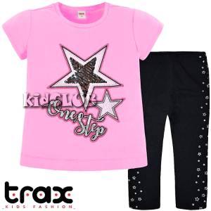 Σετ μπλούζα και κολάν κορίτσι με στάμπα step Trax