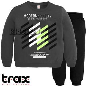 Φόρμα ψιλή βαμβακερή τύπωμα Society TRAX