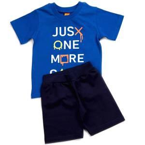 Σετ μπλούζα με βερμούδα παντελόνι αγόρι με στάμπα more Trax