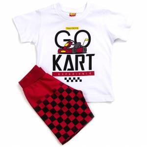 Σετ μπλούζα με βερμούδα παντελόνι αγόρι με στάμπα go Trax