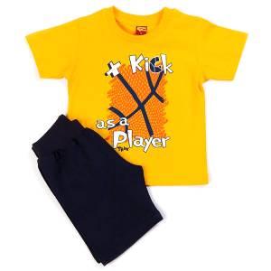 Σετ μπλούζα με βερμούδα παντελόνι αγόρι με στάμπα player Trax