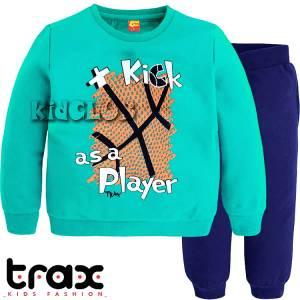 Φόρμα ψιλή βαμβακερή τύπωμα player TRAX