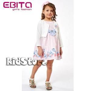 Σετ φορεματάκι και ζακετάκι μακό για κορίτσι σταμπωτό EBITA