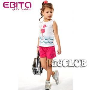 Σετ μπλούζα και σορτς κορίτσι σταμπωτό Cute EBITA