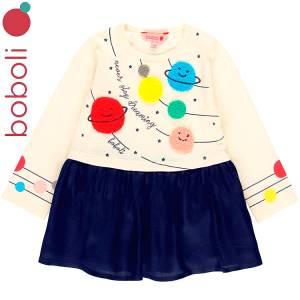 Φόρεμα baby κορίτσι σταμπωτό Learning Boboli