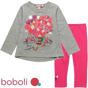 Σετ μπλούζα μακρυμάνικη με κολάν κοριτσιστικό Boboli