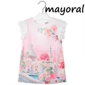 MAYORAL Φόρεμα Παιδικό Στάμπα Στρογγυλεμένος Γιακάς