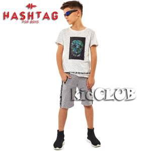 Σετ μπλούζα με βερμούδα παντελόνι αγόρι με στάμπα Cool Hashtag