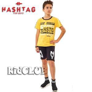 Σετ μπλούζα με βερμούδα παντελόνι αγόρι με στάμπα Run Hashtag