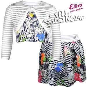 EBITA Σετ Παιδικό Μπολερό,Μπλούζα Και Φούστα