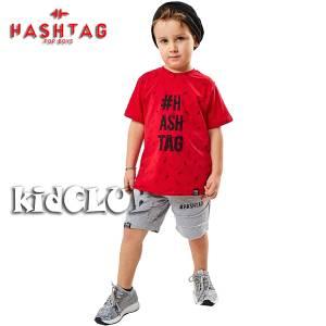 Σετ μπλούζα με βερμούδα παντελόνι αγόρι με στάμπα Charisma Hashtag