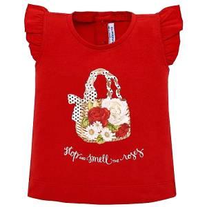 Μπλούζα κοντομάνικη σχέδιο baby κορίτσι MAYORAL