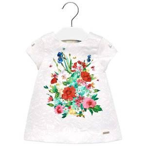 Φόρεμα με τύπωμα λουλούδια για baby κορίτσι MAYORAL