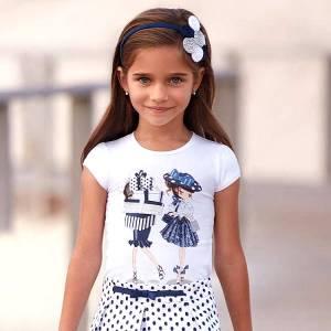 Μπλούζα κοντομάνικη κορίτσι shopping MAYORAL