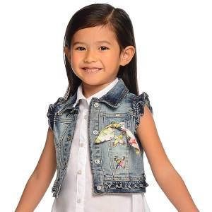Γιλέκο τζιν ξεβαμμένο κορίτσι MAYORAL