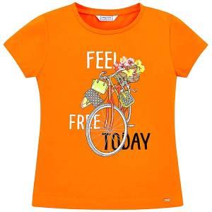 Μπλούζα κοντομάνικη σχέδιο μπροστά free κορίτσι MAYORAL