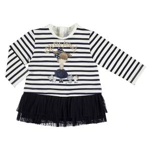 Φόρεμα συνδυασμένο ριγέ baby κορίτσι Mayoral