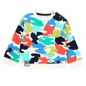 Μπλούζα φούτερ αγορίστικη σταμπωτή εμπριμέ Boboli