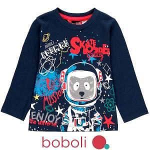 Μπλούζα μακρυμάνικη αγορίστικη Space Boboli