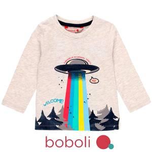 Μπλούζα μακρυμάνικη αγορίστικη Welcome Boboli
