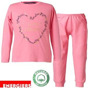 Πιτζάμα κοριτσίστικη με τύπωμα Καρδιά Energiers