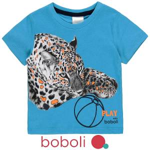 Μπλούζα κοντομάνικη αγόρι σταμπωτή play της Boboli
