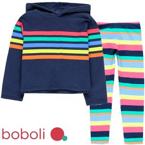 Φόρμα φούτερ με κολάν κοριτσίστικη με τύπωμα ριγέ Boboli