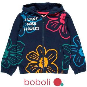 Ζακέτα φούτερ με τύπωμα Λουλούδια κοριτσίστικη Boboli