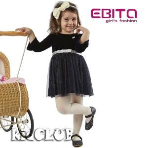 Φόρεμα συνδυασμένο από βελούδο Night για κορίτσι EBITA