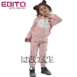 Φόρμα βελούδο με ζακέτα και απλικέ EBITA-Evita