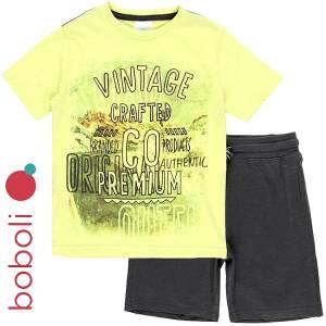 Σετ μπλούζα με κοντό παντελόνι αγόρι premium Boboli