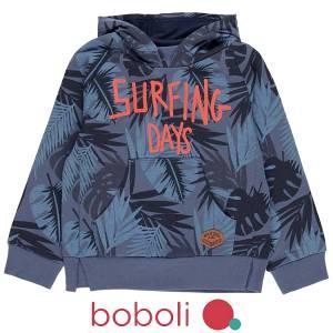 Μπλούζα φούτερ αγορίστικη σταμπωτή Boboli