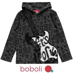 Μπλούζα μακρυμάνικη κοριτσίστικη με τύπωμα Κιθάρα Boboli