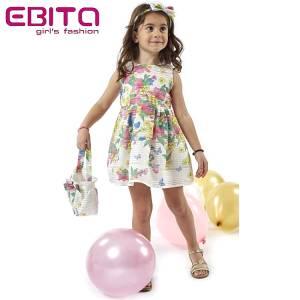 Φόρεμα σταμπωτό με λουλούδια κορίτσι EBITA