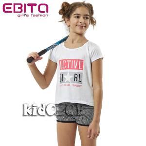 Σετ μπλούζα με κοντό παντελόνι κορίτσι Sport EBITA