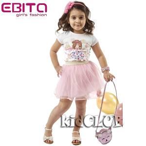 Σετ μπλούζα κοντομάνικη με φούστα τούλι κορίτσι EBITA