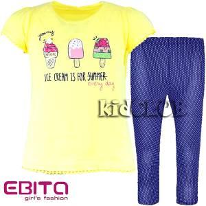 Σετ μπλούζα και κολάν κορίτσι με τύπωμα Summer EBITA