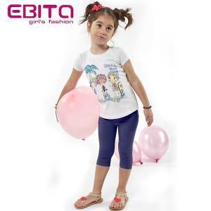 Σετ μπλούζα και κολάν κορίτσι με τύπωμα surf EBITA