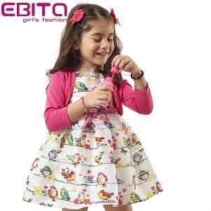 Σετ φορεματάκι και ζακετάκι για κορίτσι σταμπωτό EBITA