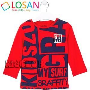Μπλούζα μακρυμάνικη αγόρι τύπωμα Kid Losan e7b21a34542