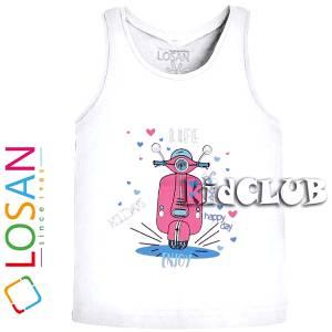 Μπλούζα με τιράντες κορίτσι με τύπωμα life LOSAN