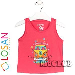Μπλούζα με τιράντες κορίτσι με τύπωμα Ride LOSAN