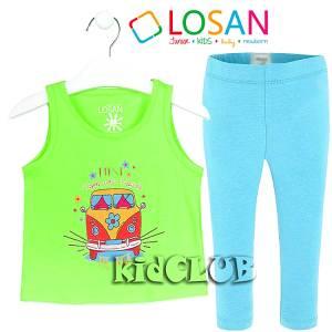 Σετ μπλούζα και κολάν κορίτσι με τύπωμα Ride LOSAN