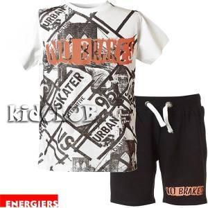 4a3ebf401e7 Σετ μπλούζα με κοντό παντελόνι αγόρι με τύπωμα urban ENERGIERS