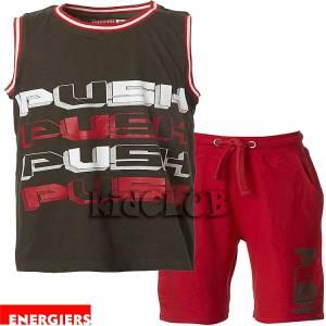 Σετ μπλούζα τιράντες με κοντό παντελόνι αγόρι τύπωμα push Energiers