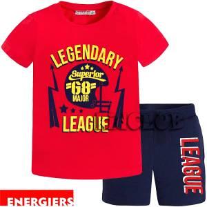 Σετ μπλούζα με κοντό παντελόνι αγόρι με τύπωμα Legendary ENERGIERS