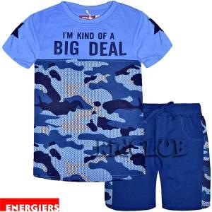 Σετ μπλούζα με κοντό παντελόνι αγόρι με τύπωμα Deal ENERGIERS